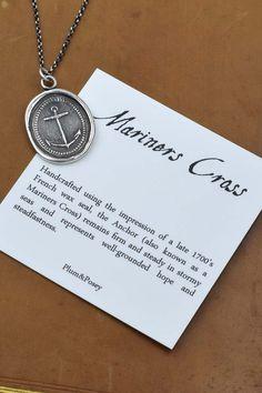 Anchor Jewelry  Mariners Cross Anchor Wax Seal by PlumAndPoseyInc