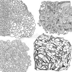 Doodle patterns Royalty Free Stock Vector Art Illustration