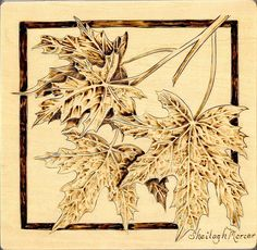 Free Wood-Burning Patterns for Beginners | wooden box wood burned only