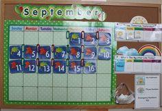 Classroom calendar ideas - good ideas for songs on website