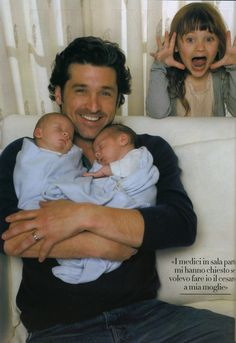 Patrick Dempsey with his kids : Tallulah Fyfe and twins Sullivan Patrick and Darby Galen.