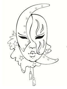 Coloriage masque venitien (page 2)