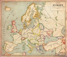 Europe (alternative history version).   22 Perfect Maps Of Places That Don't Actually Exist