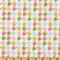 {Michael Miller Bella Butterfly Happy Houndstooth Multi} fabric for a comforter for Liv