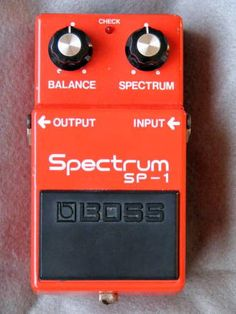 Vintage RARE Boss SP 1 Spectrum Silver Screw 8100 Made in Japan Guitar Pedal