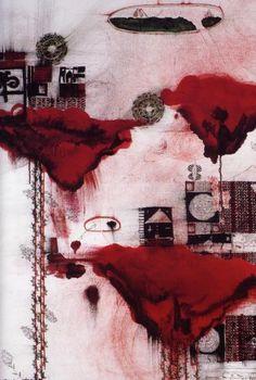 John Pule, Rising, Falling - Hakeaga, Patopato, detail, 2004