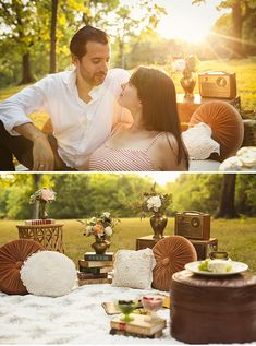 Nashville Vintage Picnic Engagement Shoot // Styling + Rentals by Stockroom Vintage // Photos by Stef Atkinson