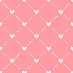 Reusable Wall Stencil Geometric With Hearts Allover Pattern.  Available In 10 or 14 Mil Mylar at no extra charge.  SKU: S0060