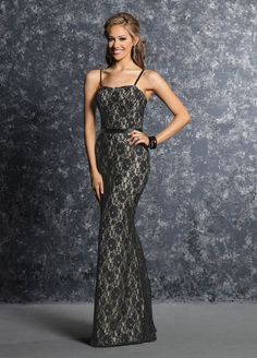 Davinci Bridesmaids Style 60242 Lace Mermaid Gown With A Sweetheart Strapless Neckline Detached Straps The Bridal Pe