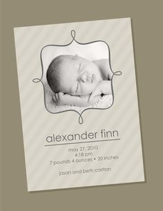 Items similar to Top Frame - Birth Announcement on Etsy Baptism Invitations, Party Invitations, Baptism Ideas, Blank Cards, Christening, Baby Room, Announcement, Birth, Diy And Crafts