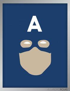 Les affiches minimalistes des Marvel par Alejandro Rojas