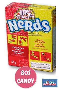 Enjoy candy from the 80s at candyfunhouse.ca. We have a wide collection of delicious NERDS candy and other 80s candy. Come see our retro candy selection today. 80s Candy, Nerds Candy, Retro Candy, Sour Candy, Nostalgic Candy, Online Candy Store, Snack Recipes, Snacks, My Childhood Memories