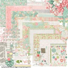 Spring Whimsy Collection Biggie by Cindy Rohrbough @ Scrap Girls #digital #scrapbooking