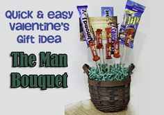 Whip up this quick and easy bouquet of your spouse's favorites! www.TheDatingDivas.com #Valentines #DIY #giftidea
