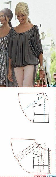 Patrón para blusa
