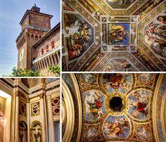 """Afrescos no Castelo Estense - """"A Cidade Medieval de Ferrara"""" by @aprendizdeviajante"""