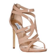 Steve Madden Women's 'Maree' Heeled Sandal (€53) ❤ liked on Polyvore featuring shoes, sandals, heels, pumps & heels, strappy shoes, evening sandals, special occasion sandals, strap heel sandals and strappy sandals