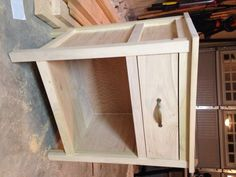 Cooper night stand with drawer, unfinished.