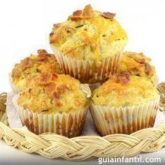 Muffins salados de jamón y queso