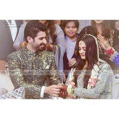 Aiman khan & Muneeb Butt ❤ engaged