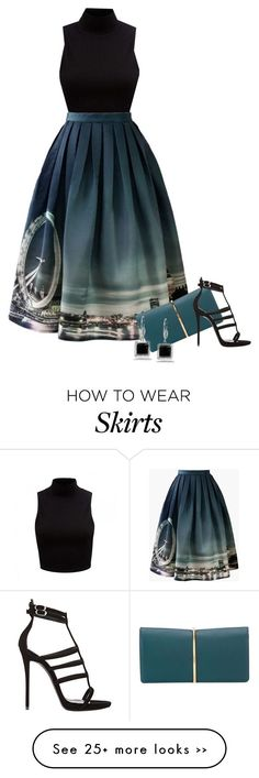 """Prints & Patterns for Summer #/5: Midi Skirts"" by detroitfashionista on Polyvore"