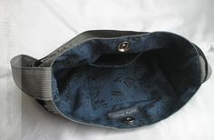 Black, White, and Navy handbag interior ~ Gypsy Thread
