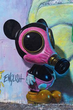 Street Art por Ron English en Roma