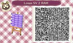 Este es un QR Code para Animal Crossing, creado por mí; como podéis observar, es un camino de losas en color morado. [2-9]  Lo podéis encontrar en mi canal de YouTube: https://www.youtube.com/channel/UCh6uwa2CjSgR4WQ-ghRQY6Q (Roxy).  ¡Espero qué os guste! ;)
