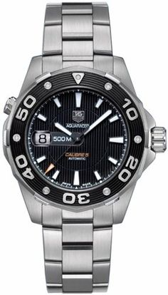 adc66bcfd5e8 TAG Heuer Men's Aquaracer Automatic Calibre 5 Watch, A sleek and stylish  timepiece with exquisite presentation, the TAG Heuer Men's Aquaracer  Automatic ...