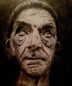 """Hobo"" pencil portrait drawing"