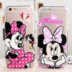 Cover for IPhone 6 and 6S New !!! Cover Transparent Cartoon Minnie Mouse. Soft Material New !!! Bundle and Save More!!! I'm Shipping Fast !!! Accessories Phone Cases