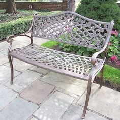 Outdoor Oakland Living Mississippi Patio Settee Bench, Multicolor