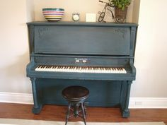 Repurposed Gems: Milk Painted Piano