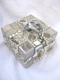 Frances Green - Silver Starfish Mosaic Box