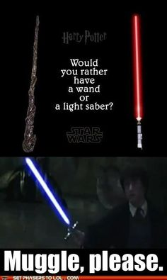 Harry Potter Star Wars. Muggle please