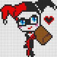Harley Quinn <3 perler board design