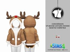 VENUS PRINCESS MOOSE ANTLERS HOODIE by Thiago Mitchell at Coupure Electrique • Sims 4 Updates