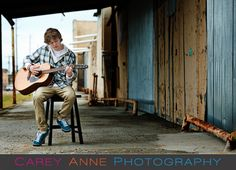 senior guy urban guitar Galveston Carey Anne Photography www.careyanneblog.com