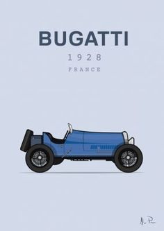 Bugatti from JamArtPrints.com signed by Irish Artist Alan Power  This lovely illustration of a classic car will make a lovely addition to any art collection or just hanging on the wall of a man cave.  #jamartprints #homedecorideas #interiordesignideas #walldecor #wallhanging #artwork Irish Art, Everyday Objects, Simple Shapes, Bugatti, Love Art, Man Cave, Classic Cars, Posters, Colours