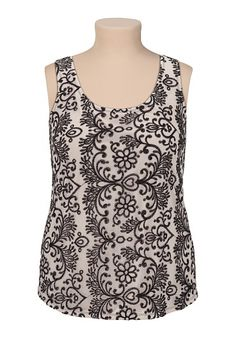 Embroidered Lace Tank available at #Maurices