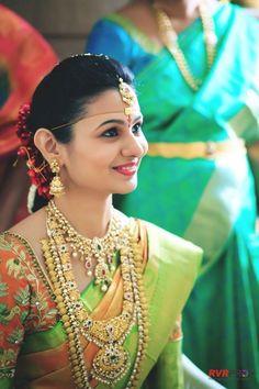 South Indian Bridal Wedding Jewelry #BridalJewellery