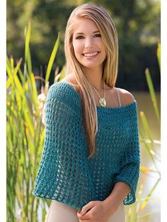 """This simple openwork design can be worn two ways -- as a lovely, open capelet, or slouched up as a generous cowl. Knit with 425 yds of #1 fingering-weight yarn at a gauge of 16 sts and 32 rnds per 4"""" using U.S. size 8/5mm, 9/5.5mm and 10/6mm 24&..."""