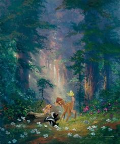 Find images and videos about art, disney and bambi on We Heart It - the app to get lost in what you love. Bambi Disney, Disney And Dreamworks, Disney Love, Disney Pixar, Disney Characters, Thomas Kinkade Disney, Disney Paintings, Disney Artwork, Disney Fine Art