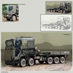 ArtStation - PHOTOBASHING PRACTICE - Tetar truck (sketch 001), Nenad Gojkovic
