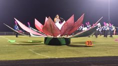 "Our pneumatically-controlled, 12' tall water lily.  It was the centerpiece of Eastern High School's (Middletown, KY) ""Awakening"" show of 2014, which took 5th in KY 5A."