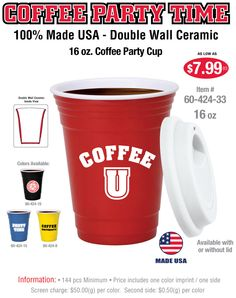 Reusable ceramic on-the-go coffee mugs made entirely in the USA!! #drinkware