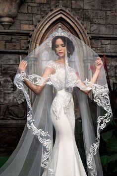 Lace wedding veil, beautiful wedding veil, cathedral veil, lace veil