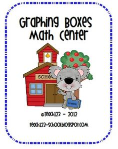 Math Center:  Graphing Boxes - an easy center to set up.  $
