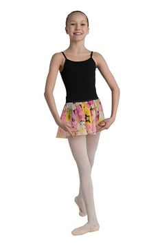 3db2cf2d8b10e Danshuz Pink and Yellow Short Circle Skirt Black Leotard, Baby Ballerina, Dance  Tights,