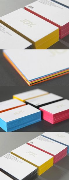 Minimalist Design White Edge Painted Business Card